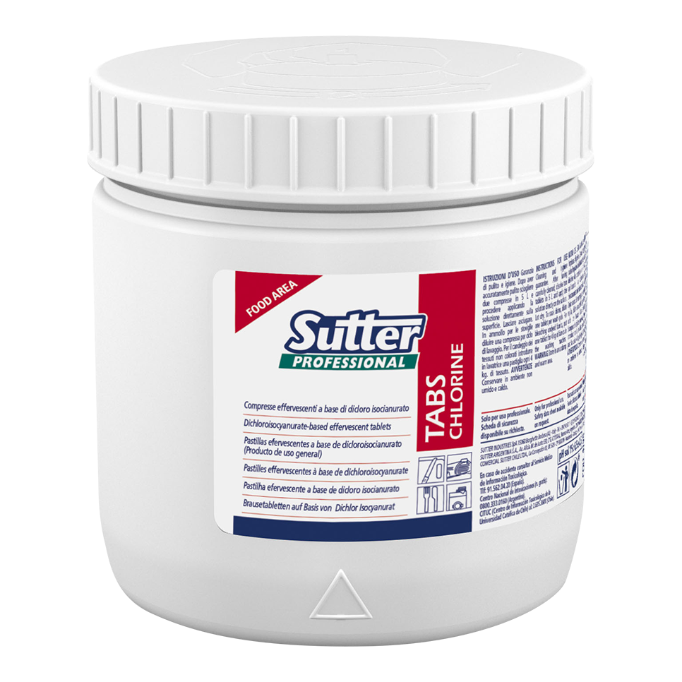 Sutter Professional Chlorine Tabs for Sanitising and Bleaching (150 tables) - FoodCraft Online Store