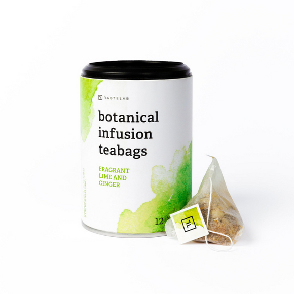 Secco Botanical Infusion Teabags - Fragrant Lime and Ginger 30g (12 x 2.5g) - FoodCraft Online Store