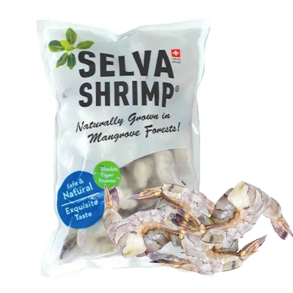 Selva Shimp Frozen Sustainable Black Tiger Prawn - 1kg - FoodCraft Online Store