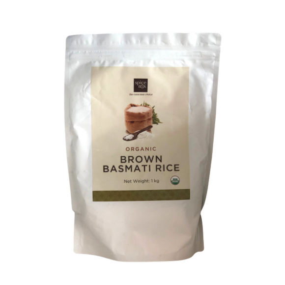 Spice Box Organic Brown Basmati Rice - 1kg - FoodCraft Online Store