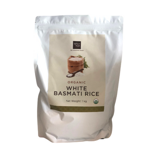 Spice Box Organic White Basmati Rice - 1kg - FoodCraft Online Store