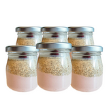Raw Chia Puddings, Strawberry - Dairy Free, Gluten Free (Set of 6) - FoodCraft Online Store