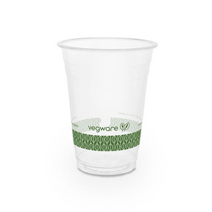 Vegware 16oz Compostable PLA cold cup (20 cups) - FoodCraft Online Store