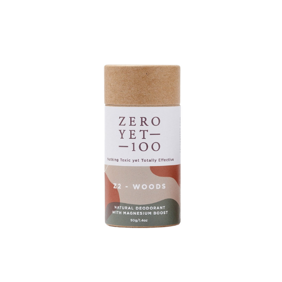 Zero Yet 100 - Z2 Deep & Earthy Deodorant Push up Stick  - Handcrafted Natural Deodorant Packaged in Biodegradable Paper - FoodCraft Online Store
