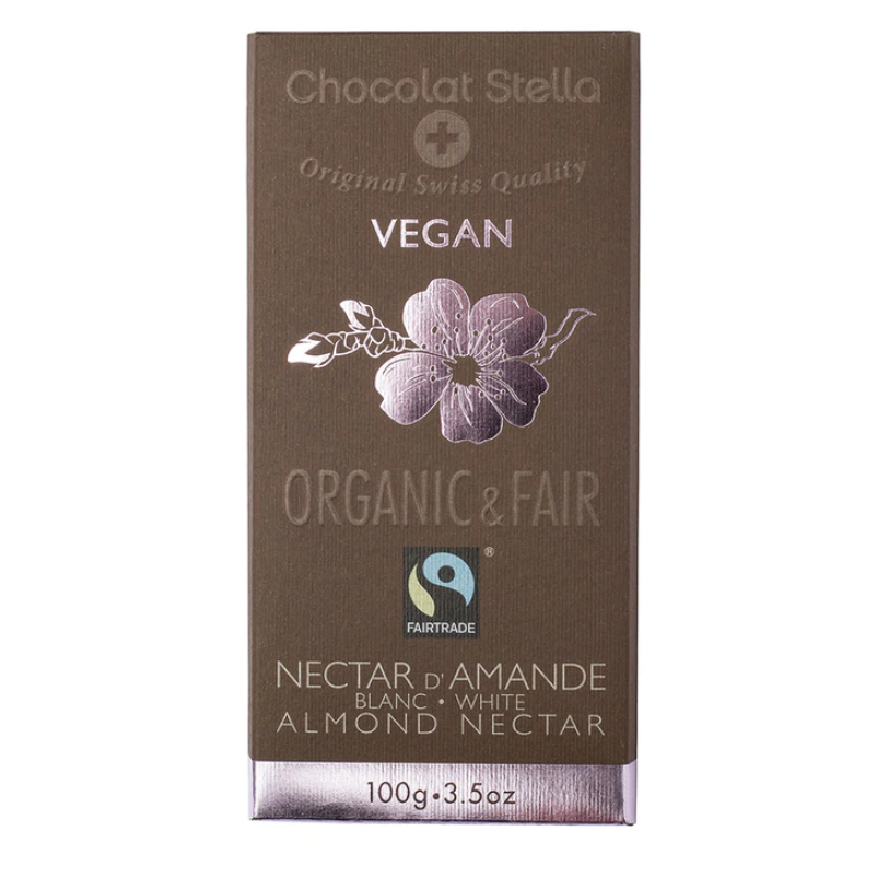 Stella Bernrain Organic White Chocolate Almond Nectar Bar (100g)