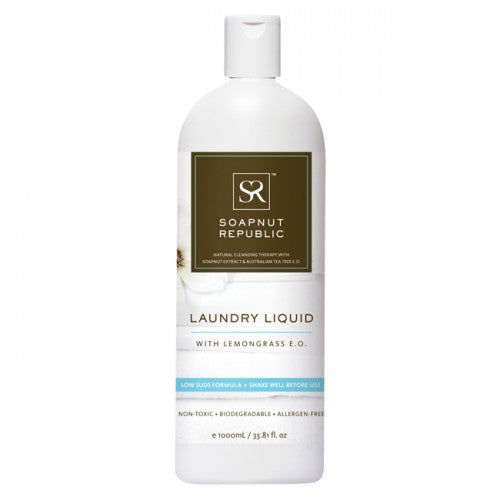 Soapnut Republic - Laundry Liquid (Lemongrass Essential Oil) - 1L - FoodCraft Online Store