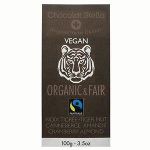 Stella Bernrain Vegan Chocolate with Tigernut, Cranberries and Caramelized Almonds (100g) - FoodCraft Online Store