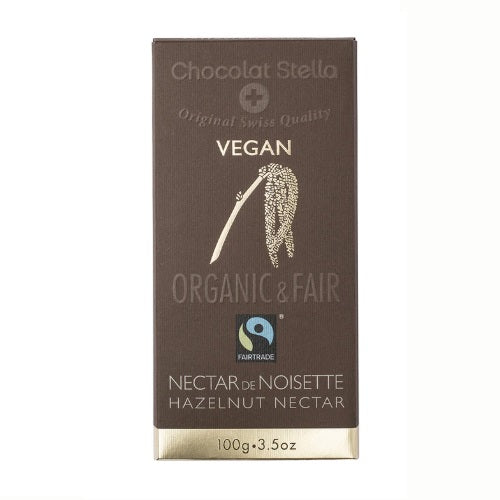 Stella Bernrain Vegan Chocolate with Hazelnut Paste, NECTAR DE NOISETTE (100g) - FoodCraft Online Store