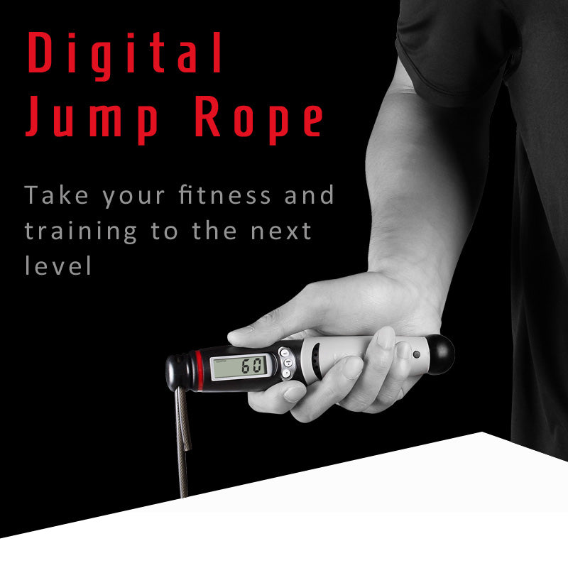 /ÖSSZEFUT Jump Rope Digital Counting Speed Jumping Rope Counter for Indoor and Outdoor Fitness Boxing Training Adjustable Weighted Jump Rope Workout for Men Children Cordless Skipping Rope Women