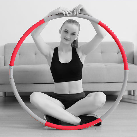 Hula Hoop with Digital Counter for Adults Exercise Removable Multiple Assembly Design 7 Detachable Sections Foam Padded---KYTO2463