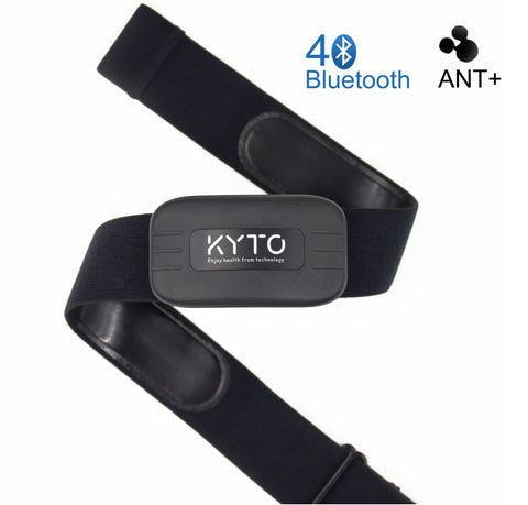 Bluetooth and ANT+ heart rate monitor with chest strap - KYTO2809