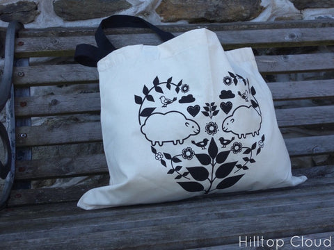 Hilltop Cloud Love Tote Bag - Hilltop Cloud