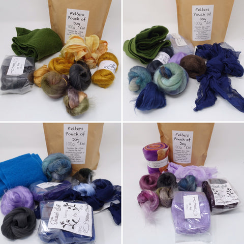 Felters Pouch of Joy- Nuno Felting Supply Lucky Dip