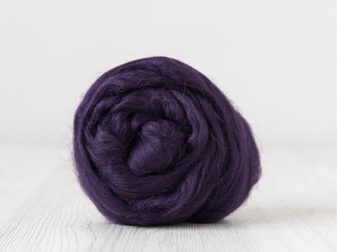 Tussah Silk Tops- 100g- Blackberry (DHG)