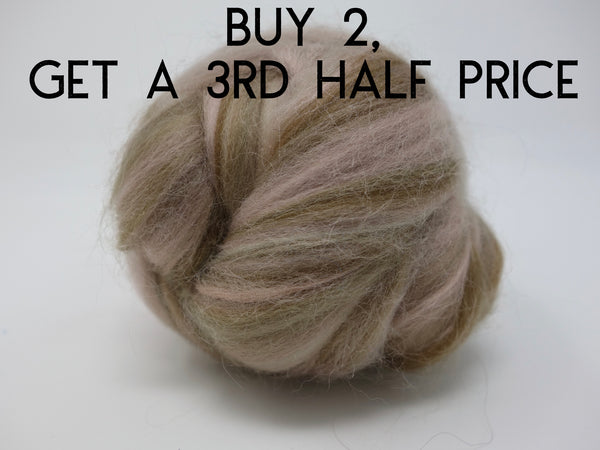 Pale Brown blended Merino and silk