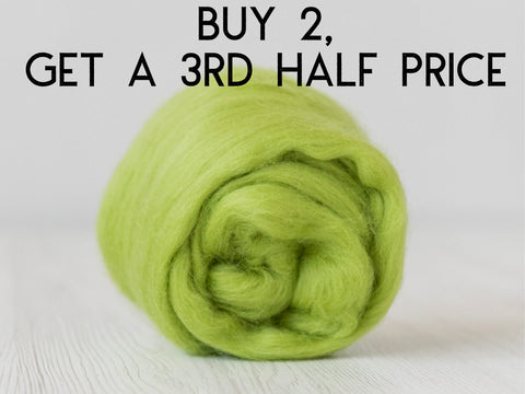 pale lime green merino and silk