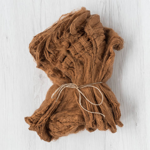 Silk Hankies, 20g & 50g, Cinnamon (DHG)