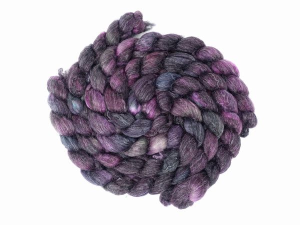 Superwash BFL & Ramie, Hand Dyed, Semi-Solid, 100g