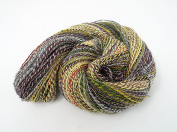 "Handspun, Striped, Sport weight, Woollen Yarn- ""The Assembly Room"""