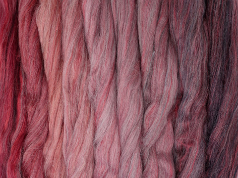 Poppy Gradient Pack- Blended Spinning Fibre, Gradient Roving Set 140g 4.9oz