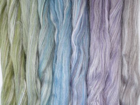 Butterfly Gradient Pack- Blended Spinning Fibre, Gradient Roving Set 140g 4.9oz