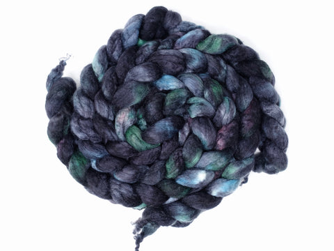 BFL, Cashmere & Silk. Hand Dyed Combed Top, Variegated, 100g