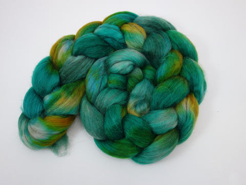 Llama & Faux Cashmere, Hand Dyed, Variegated, 100g