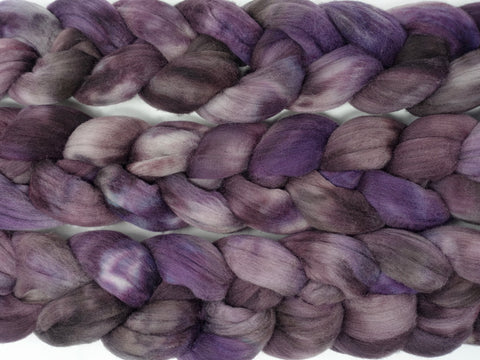 Rambouillet, Hand Dyed Combed Top, 100g,Semi-Solid