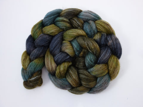 BFL, Alpaca & Seacell. Hand Dyed, Repeating, 100g