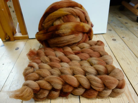 Shetland Sweater Pack Extras, 100g, Hand Dyed Combed Top