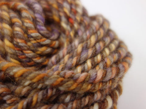"Handspun Yarn- Hand Dyed BFL, Bulky weight, ""The Yellows"""