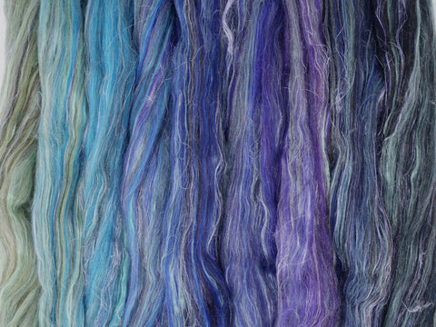 Milky Way Gradient Pack- Blended Spinning Fibre, Gradient Roving Set 140g 4.9oz