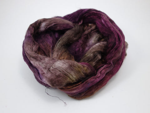 Mulberry Silk Brick, Hand Dyed, 100g