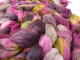 Sock Fibre, Superwash Cheviot, Silk & Nylon. Hand Dyed Combed Top, Variegated