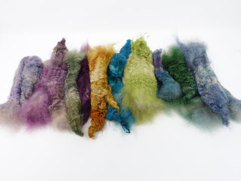 Cashmere, Hand Dyed. Mixed colour oddments 70g