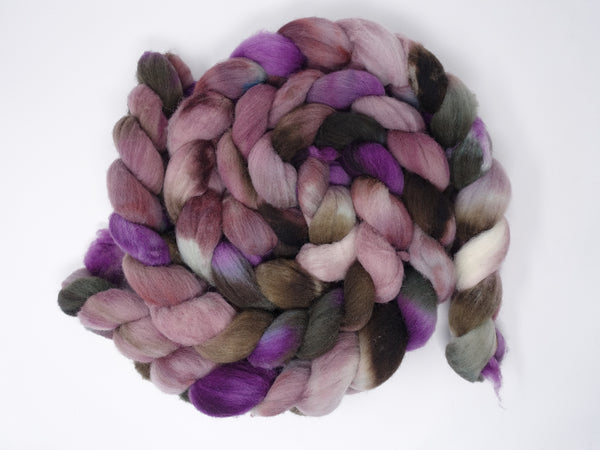 Southdown, Hand Dyed Combed Top, 120g, Repeating Colourway