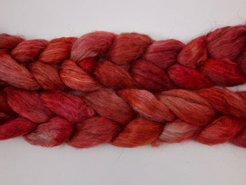 Scandi Blend, Hand Dyed Combed Top, Semi-Solid Colourway, 100g