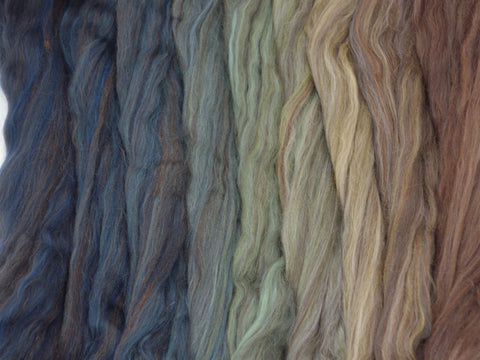 Crashing Wave Gradient Pack- Blended Spinning Fibre, Gradient Roving Set 140g 4.9oz