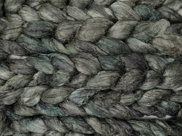 Silken-Yak-Llama,  Hand Dyed Combed Top, Semi-Solid, 85g