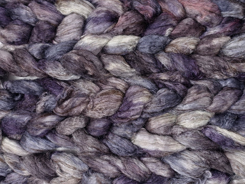 Silken-Yak-Llama,  Hand Dyed Combed Top, Semi-Solid, 100g