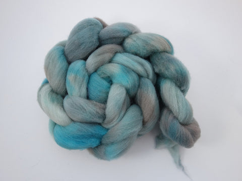 Southdown, Hand Dyed Combed Top, Semi-Solid,  120g