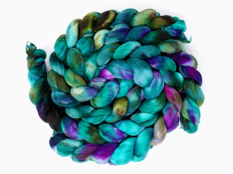 Rambouillet, Hand Dyed Combed Top, 100g, Variegated