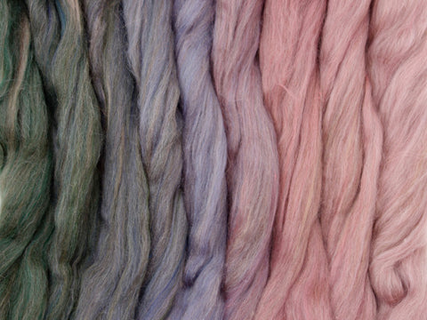 Dallas Country Gradient Pack- Blended Spinning Fibre, Gradient Roving Set 140g 4.9oz