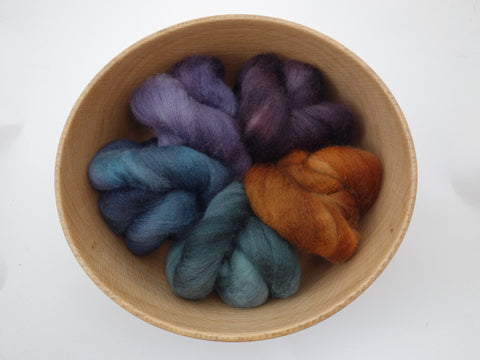 Colours of Cambria: Mine - 100g Cambrian (Welsh x BFL) Wool - Hilltop Cloud