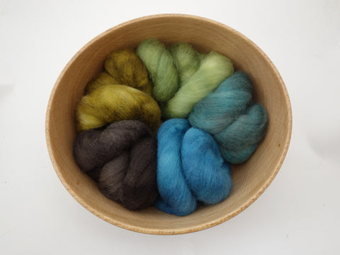 Colours of Cambria: Coast - 100g Cambrian (Welsh x BFL) Wool - Hilltop Cloud