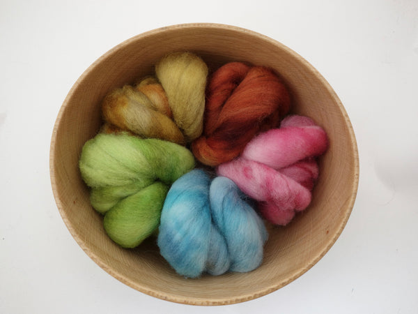 Colours of Cambria: Port - 100g Cambrian (Welsh x BFL) Wool - Hilltop Cloud