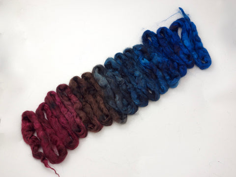 Silk & Kid Mohair, Hand Dyed Gradient. 100g