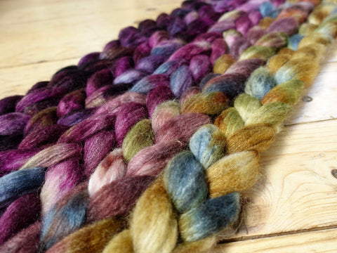 Fade Pack- Superwash Cheviot Silk & Nylon, 5 co-ordinating braids, Hand Dyed Wool, 500g