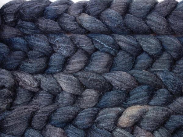 BFL, Alpaca & Seacell. Hand Dyed, 100g Semi-Solid - Hilltop Cloud