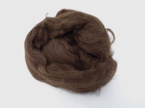 Yak Down Combed Top- 50g- Dark Brown